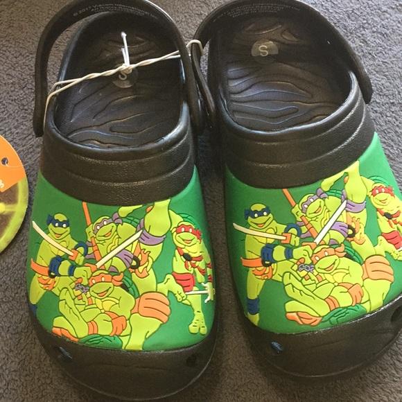Nickelodeon Teenage Mutant Ninja Turtles Clogs Water Boys Shoes L 2-3 NWT